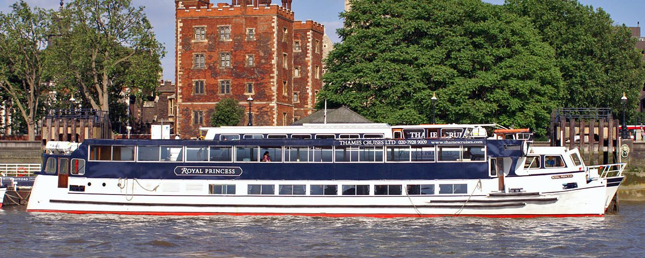 The Royal Princess, one of the Thames Cruises fleet