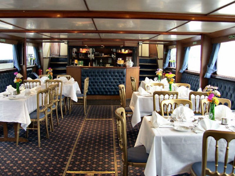 View of the Lower Bar on the Old London from Thames Cruises