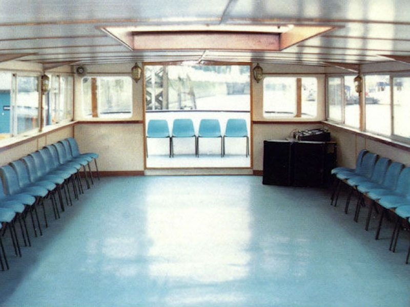 Top dance deck on the Old London from Thames Cruises