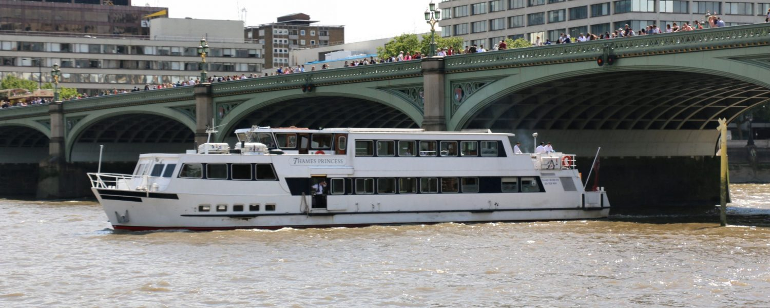 The Thames Princess, one of the fleet at Thames Cruises